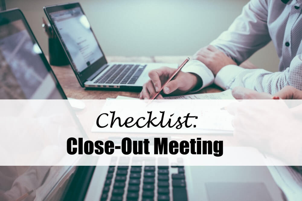 Check List Close-Out Meeting: Completing a Project Successfully - InLoox