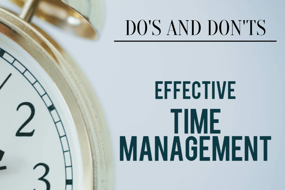 Do S And Don Ts How To Improve Your Time Management Inloox