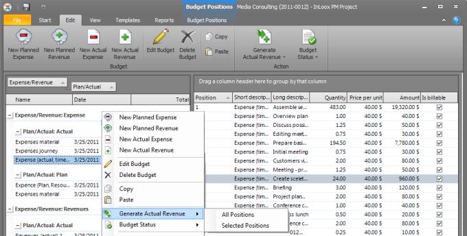 Estimation and Billing
