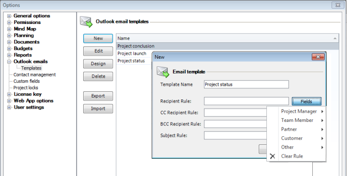 Customizable Templates and Predefined Text Modules