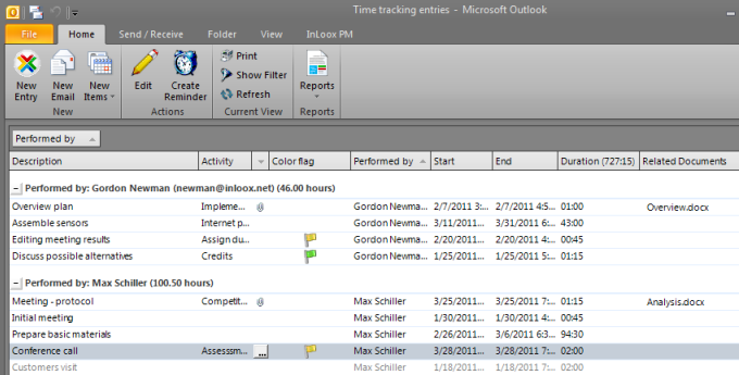 """Project Time Tracking """"en passant"""""""